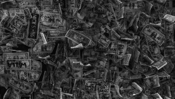 grayscale photo of a bunch of metal tools